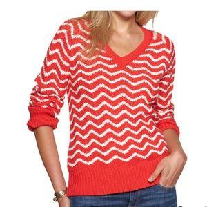 GAP Chevron Cable Knit Sweater